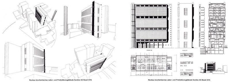 Planung biochemisches Forschungsgebäude Sandoz AG Basel (CH)
