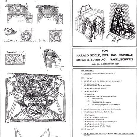 Suter&Suter Basel (CH), Studie gotische Architektur
