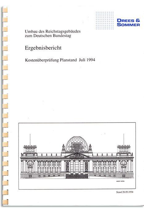 Kostenkontrolle Neubau / Sanierung Reichstag